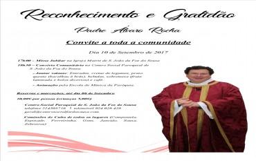 Reconhecimento e Gratidão ao Padre Álvaro Rocha